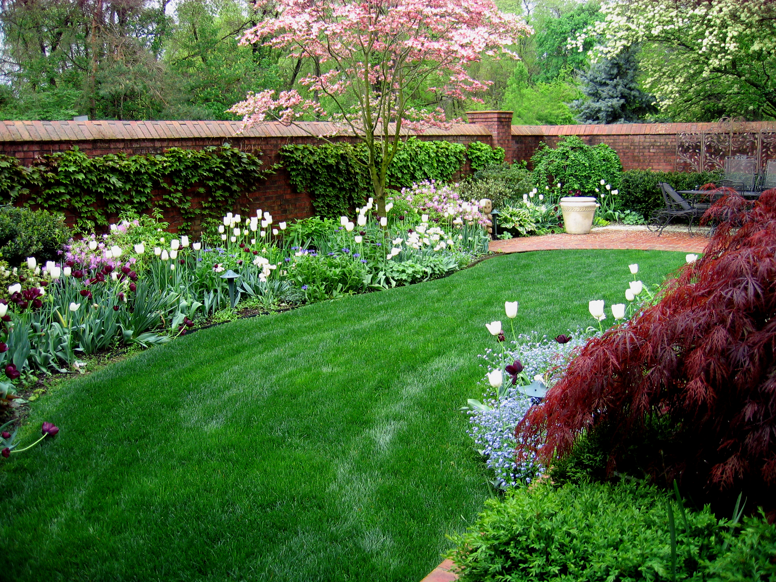 Low maintenance gardens indianapolis for Low maintenance garden design pictures