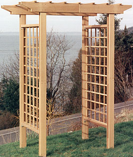 Arbors pergolas and trellises oh my indianapolis - How to build a grape vine support the natural roof ...