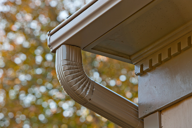 Great way to treat downspouts for Painting aluminum gutters